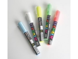 PEN CHALK INDOOR DRY WIPE COLOURED