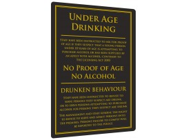 BAR SUNDRIES LICENCING ACT 3in1 SIGN