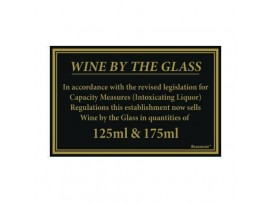 BAR SUNDRIES WINE BY GLASS SIGN 170x110mm