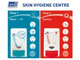 DISPENSER SKIN HYGIENE CENTRE 2-STEP