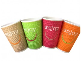CUP DOUBLE WALL ENJOY 16OZ