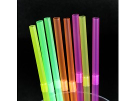 STRAW BENDY NEON ASSORTED 8""