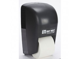DISPENSER TOILET ROLL VERTICAL BLACK