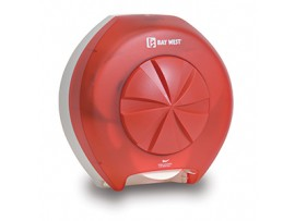 DISPENSER REVOLUTION TOILET ROLL RED