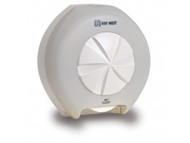DISPENSER ORBIT TOILET ROLL WHITE