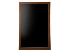 "BOARD WOODEN FRAME BLACK 36""X24"" DARK"