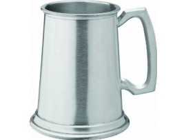 ALBANY TANKARD BRUSHED PEWTER 10OZ/100MM