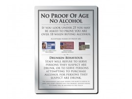 SIGN AGE POLICY NOTICE SILVER