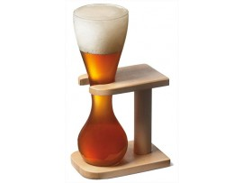 GLASS QUARTER YARD OF ALE AND STAND 13.3OZ