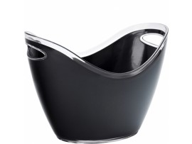 BUCKET CHAMPAGNE LARGE BLACK 26CM HIGH