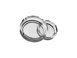 ASHTRAY STACKABLE CLEAR 4.25""