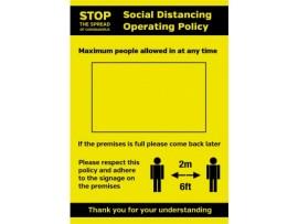 SIGN SOCIAL DISTANCING SA A4