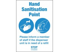 SIGN HAND SANITISATION POINT SA A5