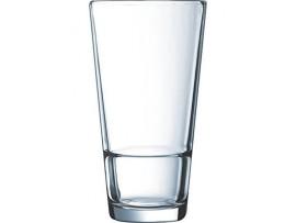 GLASS BEER STACKUP 14 OZ