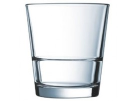 GLASS TUMBLER STACKUP ROCKS 11oz
