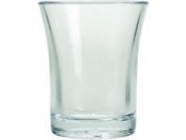 GLASS SHOT CLEAR POLYSTRENE 25ML