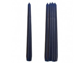 CANDLE DARK BLUE TAPERED 10""