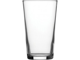 CONICAL GLASS BEER CE STAMPED 10OZ
