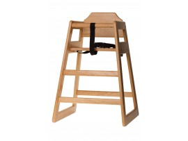 HIGH CHAIR WOODEN UNASSEMBLED NATURAL