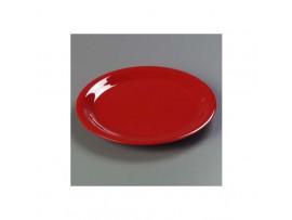 PLATE DINNER MELAMINE RED 23CM
