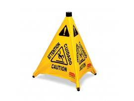 CONE POP UP MULTILINGUAL 'CAUTION' 76CM
