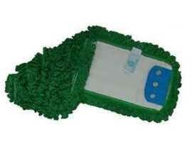 MOP HEAD FLAT MICROFIBRE GREEN 40CM