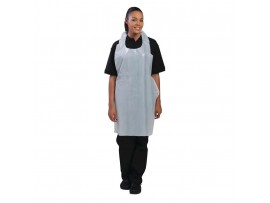 APRON DISPOSABLE WHITE FLAT PACKET