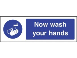 SIGN WASH YOUR HANDS SELF ADHESIVE