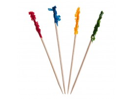 "DISPOSABLE FRILL PICKS 4.25"" MULTI COLOUR"
