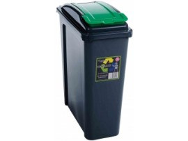 BIN RECYCLING SLIMLIME GREEN LID 25LT