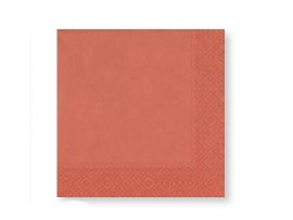 METALLIC ROSE GOLD NAPKIN 3PLY 33CM