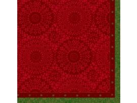 FESTIVE CHARME RED NAPKIN CLASSIC 40CM