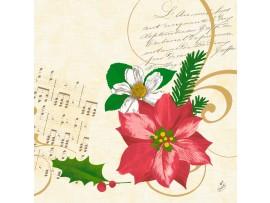 CHRISTMAS FLOWER NAPKIN CLASSIC 40CM