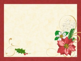 CHRISTMAS FLOWER PLACEMATS PAPER 30X40CM