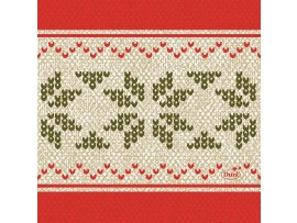 URBAN YULE RED NAPKINS 3-PLY 24CM