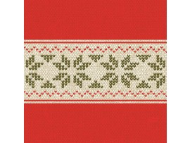 URBAN YULE RED NAPKINS 3-PLY 33CM