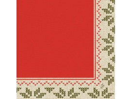 URBAN YULE RED NAPKINS 3-PLY 40CM