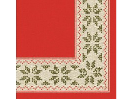 URBAN YULE RED NAPKINS D-LIN 48CM