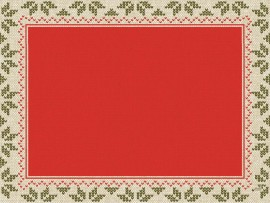URBAN YULE RED PLACEMATS D-CELL 30X40CM