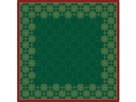 XMAS DECO GREEN SLIPCOVER DUNICEL 84X84CM