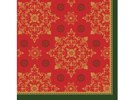 XMAS DECO RED NAPKIN 3 PLY 24X24CM