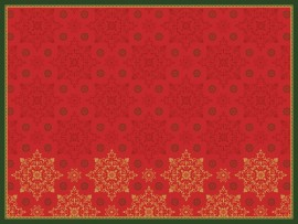 PLACEMATS D CEL 30X40 XMAS DECO RED