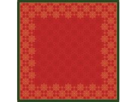 XMAS DECO RED SLIPCOVER D/S+ 84X84