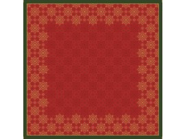 XMAS DECO RED SLIPCOVER DUNICEL 84X84CM