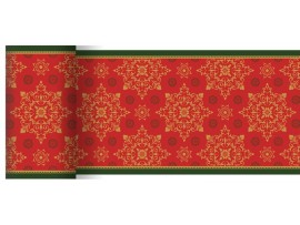 XMAS DECO RED TABLERUNNER DUNICEL 0.15X20